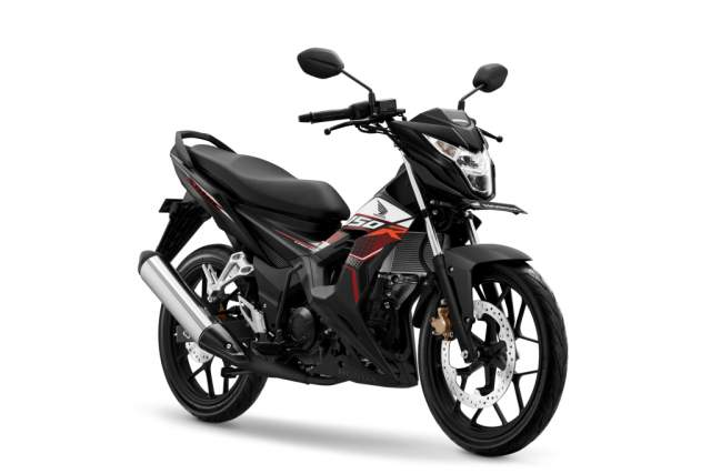 Warna New Honda Sonic 150R Activo Black