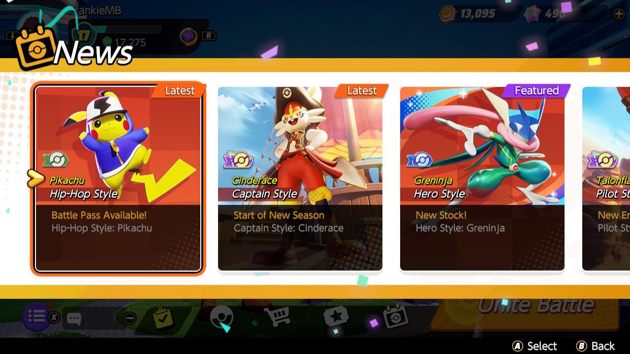 What the Pokémon Unite Battle Pass offers