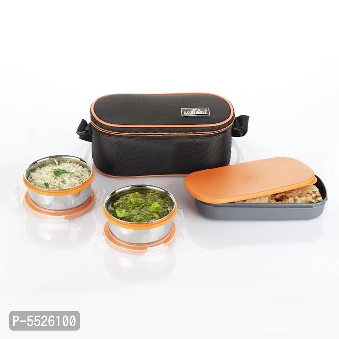 Royal Double Decker 2 Containers with Small Lunch Box (1000 ml) Online Shopping    Lunch Box Online   Best Lunch Box Online Shopping  