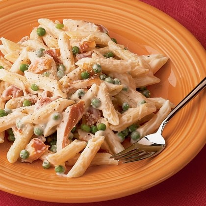 Penne Alfredo with Smoked Trout Recipe