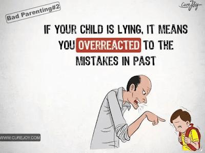 如果你的孩子撒谎,其实这说明你曾经对他犯过的错误反应过度。
