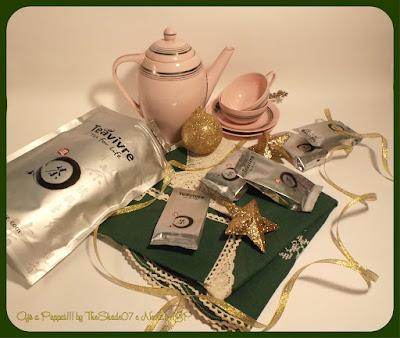 Immagine del set fotografico con il tè TeaVivre