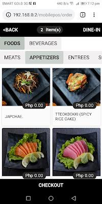 ordering system, Geonbae Modern Korean Bar & Grill, Unlimited Samgyupsal, Sashimi and More
