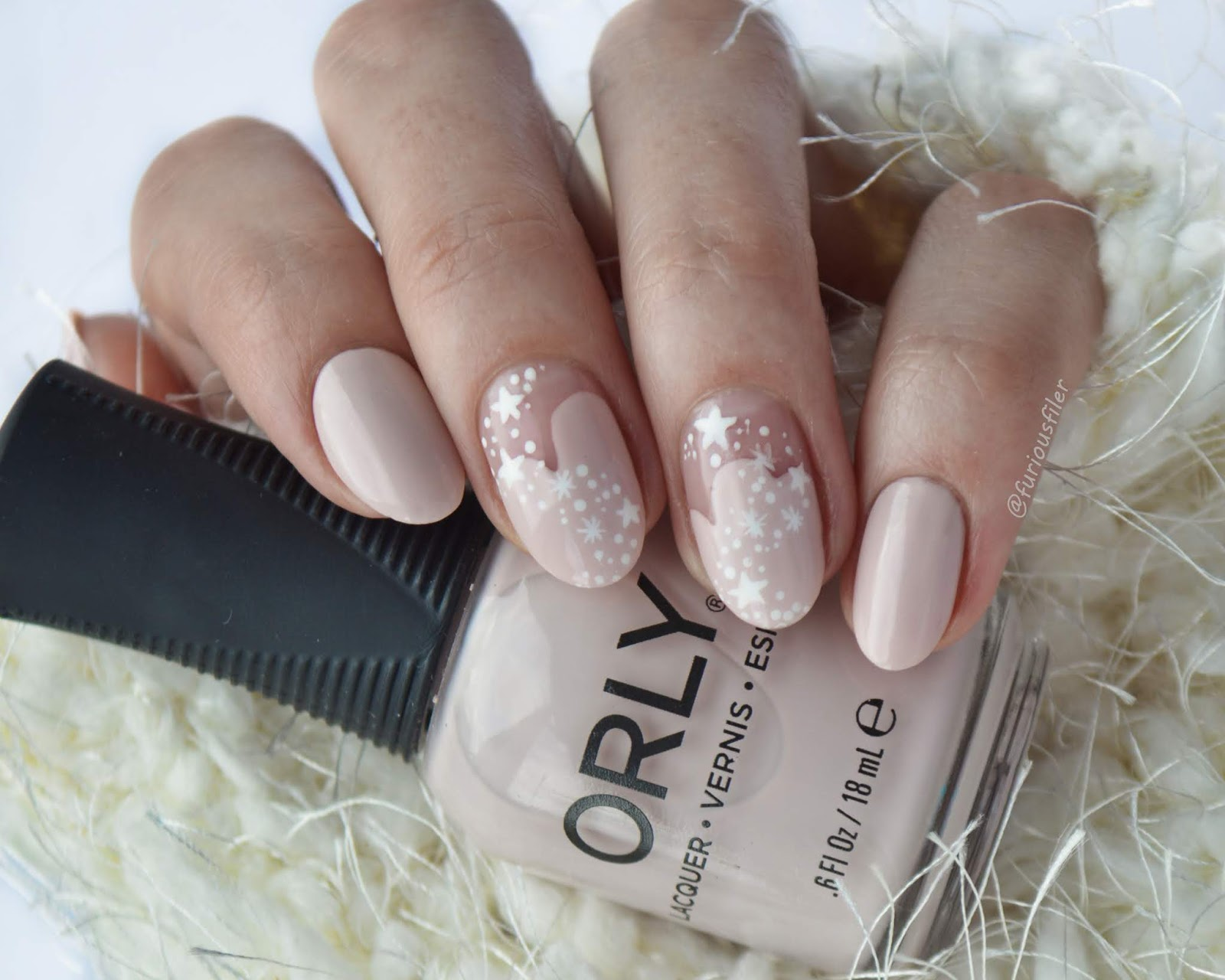 frozen snow nude delicate nails furiousfiler