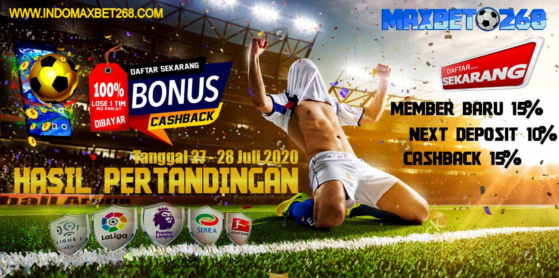 Hasil Pertandingan Sepakbola Tanggal 27 - 28 Juli 2020