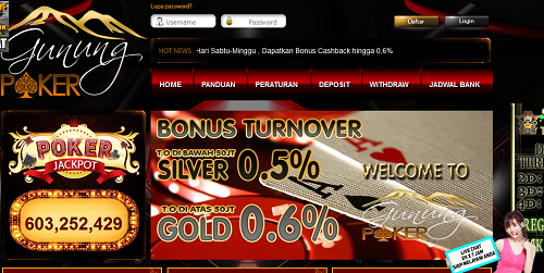GunungPoker.com Agen Poker Online Tanpa Robot