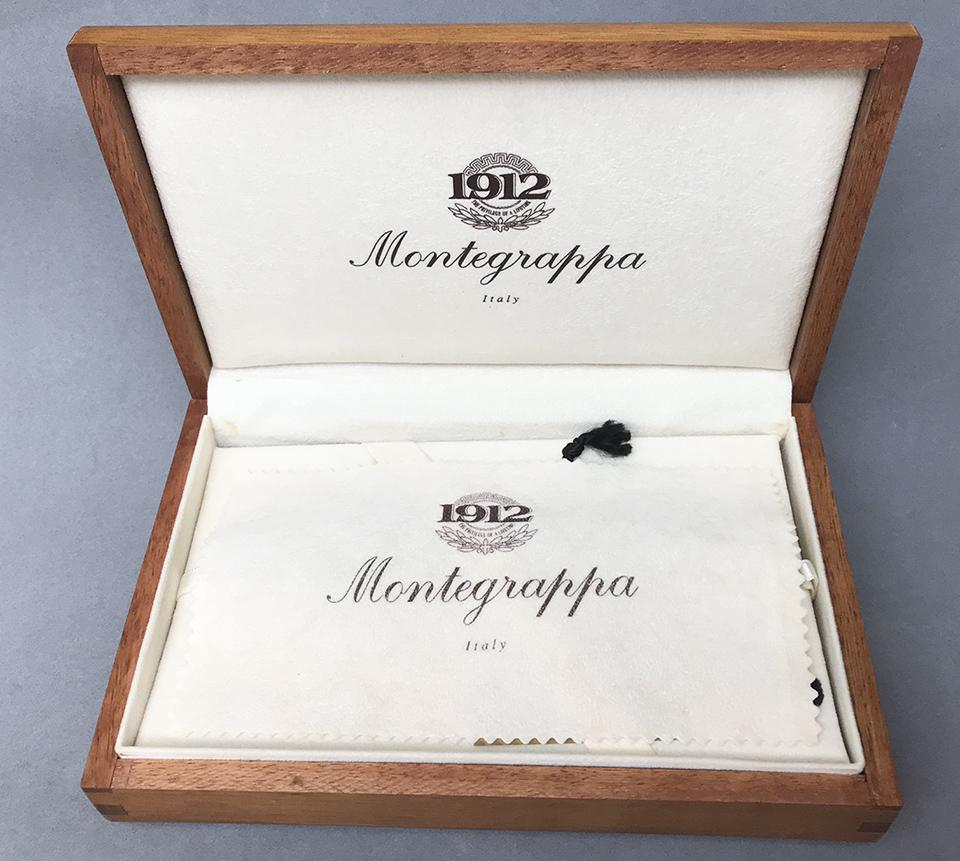 Sill/ín Montegrappa Original Producto Artesanal Italiano En Cuero Sint/ético Hecho A Mano con Dos Muelles Resistentes Mod 061 America