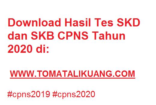 hasil tes skd cpns 2020 kementerian lembaga instansi negara hasil skd cpns 2019 tomatalikuang.com