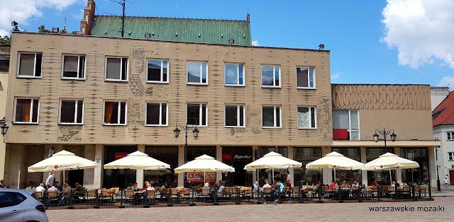 Warszawa Warsaw modernizm architektura architecture lata 60 Jan Bogusławski Bohdan Gniewiewski sgraffito Czesław Wielhorski Stare Miasto modernistyczny