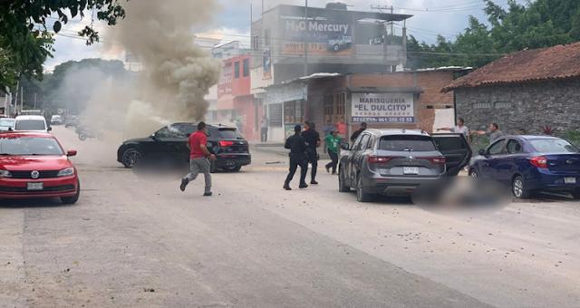 Video: En segundos Convoy de Sicarios intercepto a dos vehículos en calles de Tuxtla Gutiérrez, Chiapas y ejecuto a sus ocupantes