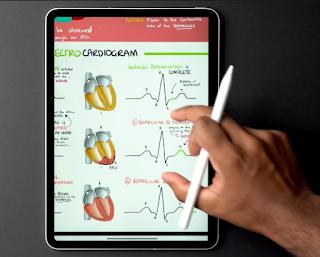 taking notes on iPad Pro