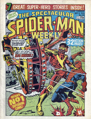 Spectacular Spider-Man Weekly #339, Rocket Racer and the Big Wheel