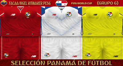 PES 6 Kits Panama National Team World Cup 2018 by FacaA/Ngel