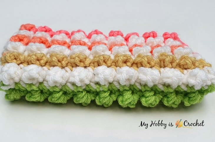 crochet bobble single crochet with color change
