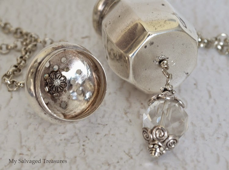 tutorial on how to make a sterling salt shaker necklace