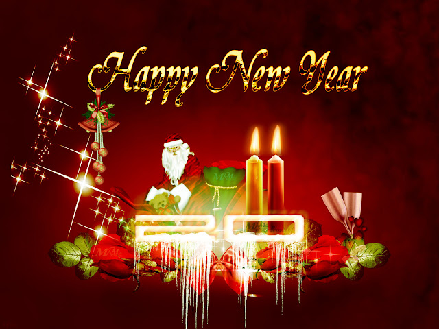 happy new year HD shining glowing fresh wallpaper