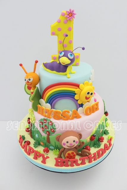 The Sensational Cakes BABYTV CAKE SINGAPORE MONKEY RAINBOW SUNNY