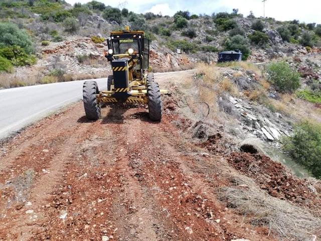 Παρέμβαση του Δήμου Ναυπλιέων στο δρόμο από Βιβάρι προς Κονδύλι