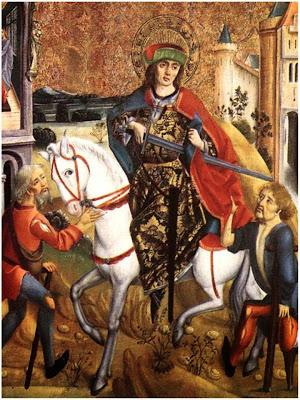 San Martin Caballero Cortando su Capa Para Compartirla con un Pobre