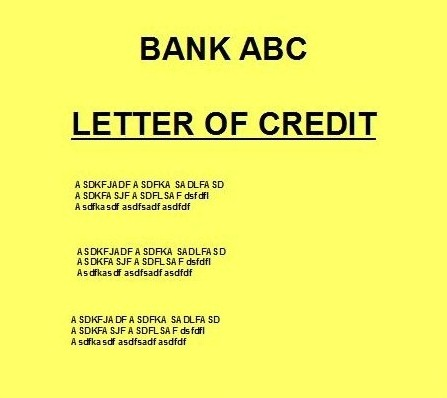 Different types or kinds of letter of credit