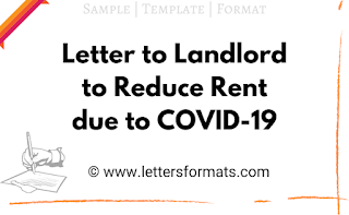 how to write letter to landlord to reduce rent due to covid-19