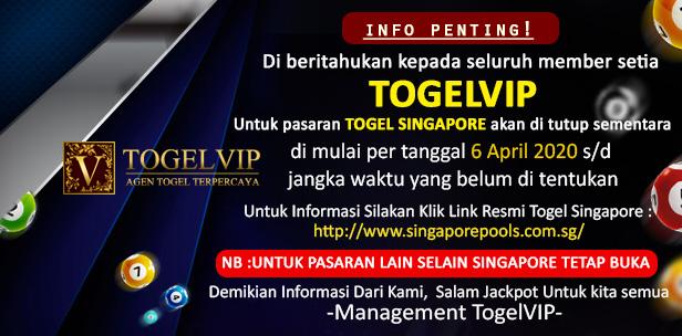 Info Result Singapore Tutup Sementara