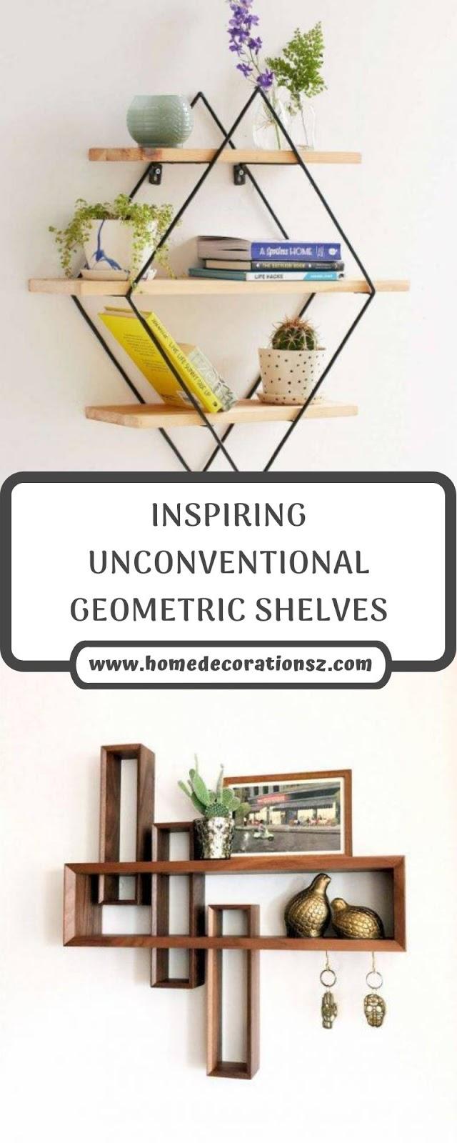 INSPIRING UNCONVENTIONAL GEOMETRIC SHELVES