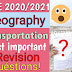 ICSE 2020/2021 Geography Transportation important questions for Board Exam