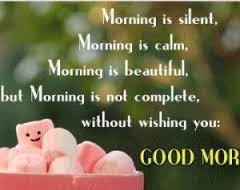 Good Morning Love Quotes: Morning is silent, morning is calm, morning is beautiful, but morning is not complete, without wishing you