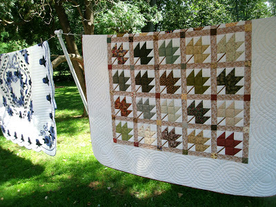 maple leaf patchwork quilt