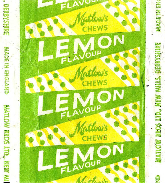 1970s candy wrapper Matlow's lemon chews