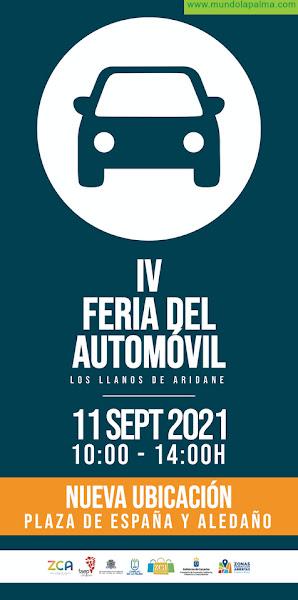 La Zona Comercial Abierta de Los Llanos de Aridane comunica la nueva ubicación de la IV Feria del Automóvil