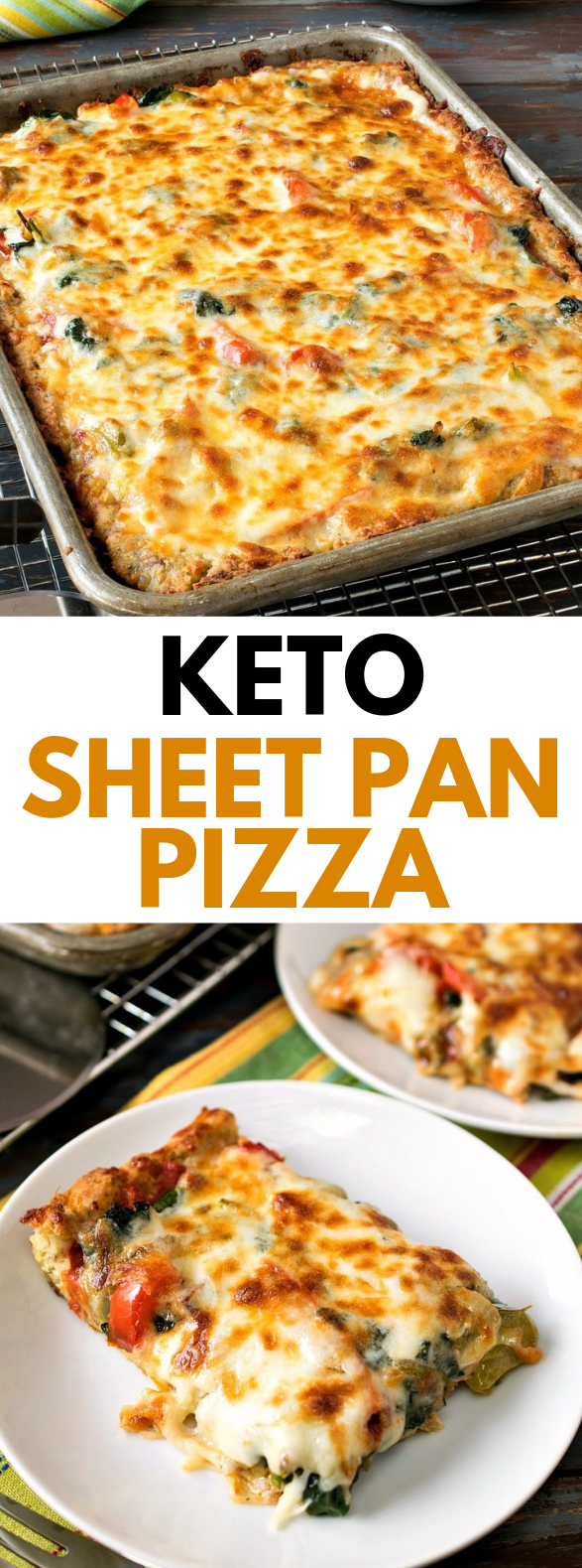 Keto Sheet Pan Pizza #lowcarb #glutenfree
