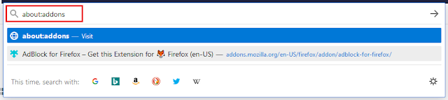 about:addons in Firefox.