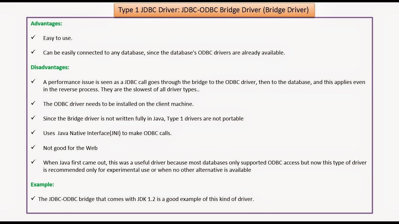 Jdbc Driver for java 1 8