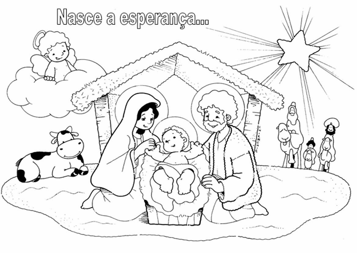 Paroquia Santo Antonio Pimentas Presepio De Natal Para Colorir