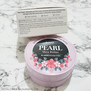 Review Koelf Petitfee Pearl Shea Butter Hydro Gel Eye Patch