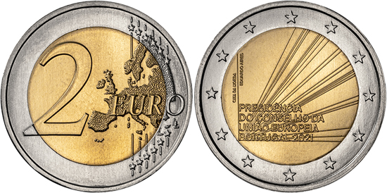 Portugal 2 euro 2021 - Presidency of the Council of the European Union