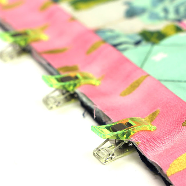 Neon Clover Clips for Quilt Binding 1 (Ode to Notions on CQA)