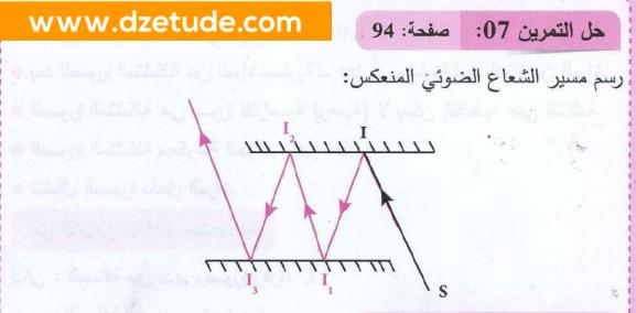 حل تمرين 7 صفحة 94 فيزياء السنة رابعة متوسط - الجيل الثاني