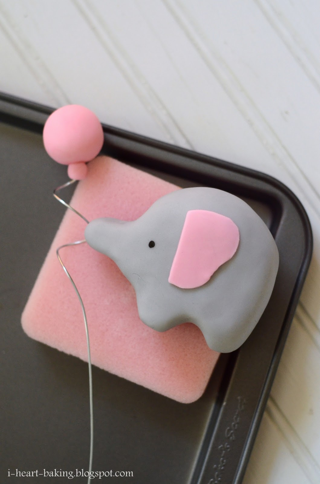 Elephant And Balloon Baby Shower Cake