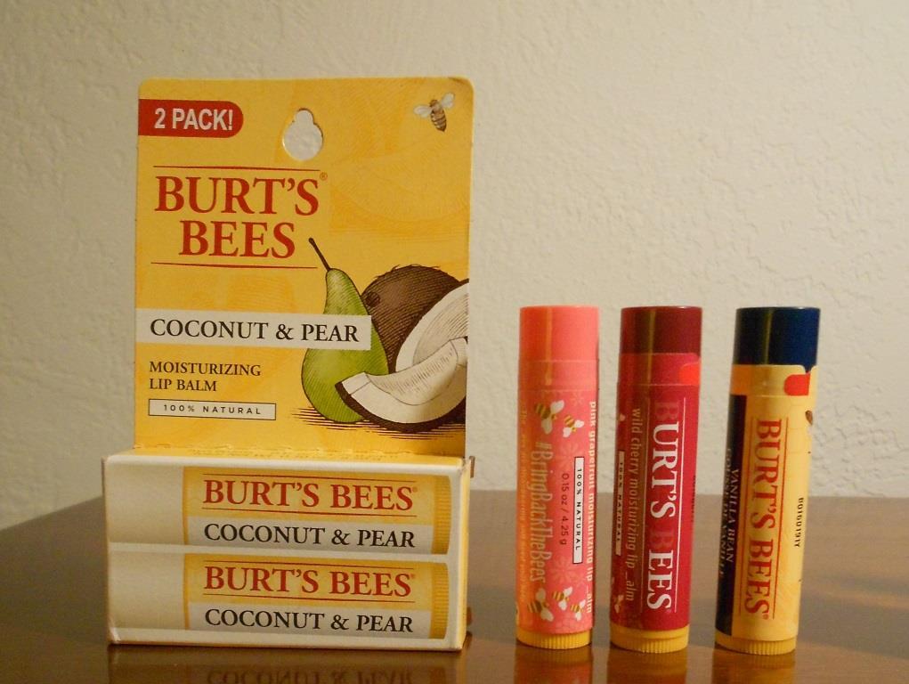 Burt's Bees 100% Natural Lip Balms