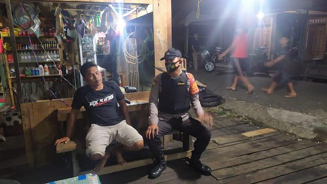 Personil piket Polsek pematang karau laksanakan Patroli malam ke pemukiman penduduk cegah gangguan kamtibmas