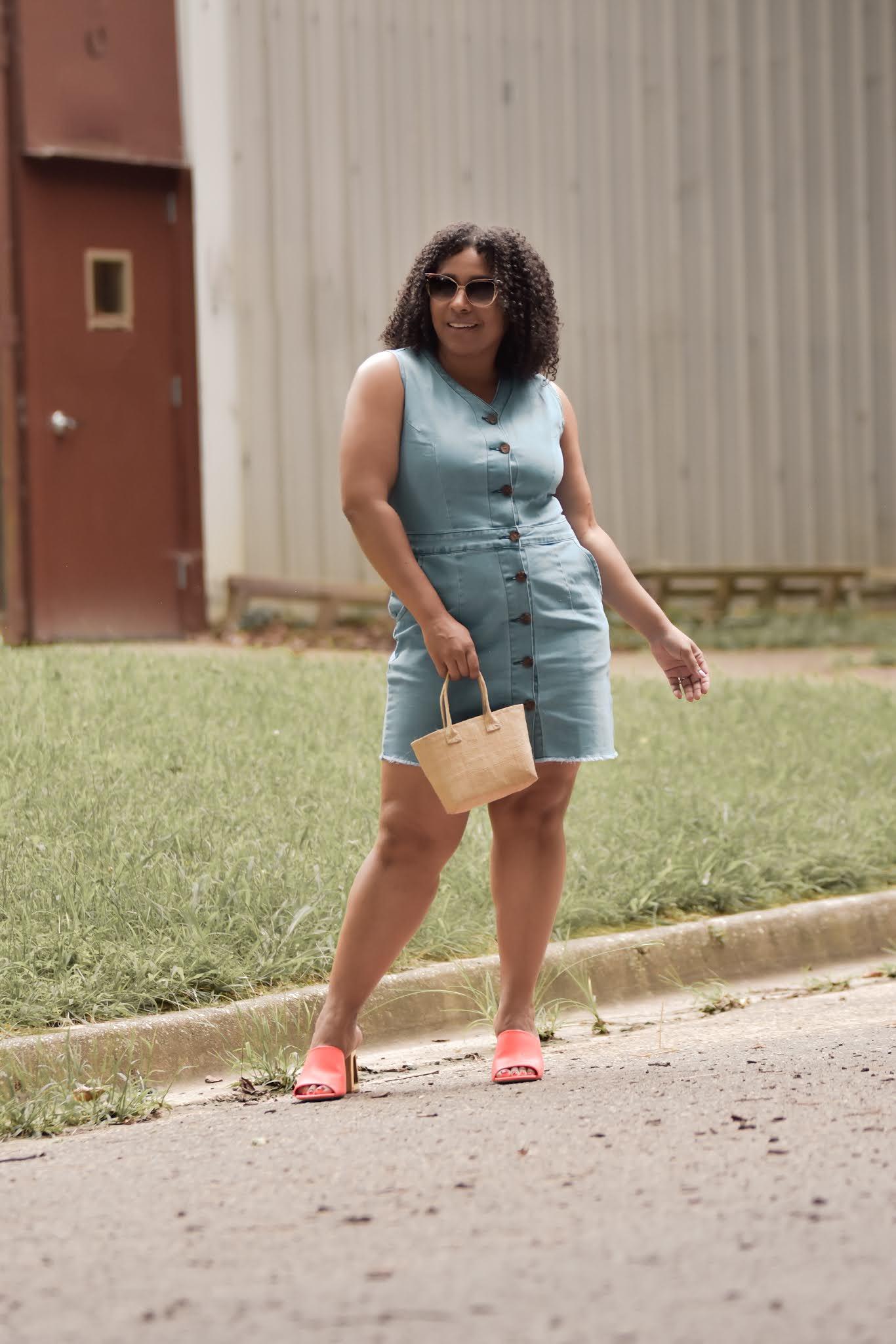 lookbook store, lookbook tsore reviews, denim dress, denim dress outfit ideas, how to style denim, denim trend 2020, pattys kloset, fashionable mom outfits