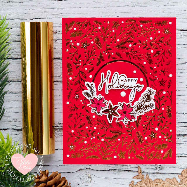 how to,handmade card,Stamps,Christmas Foiled Basics Collection by Yana Smakula,Guest Designer,ilovedoingallthingscrafty,Elegant Foiled Christmas Cards,stamping,Spellbinders,Die cutting,card making,