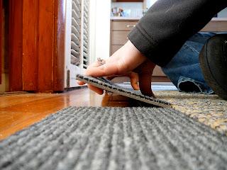 Rhinestone Beagle Custom Carpet Tile Runner