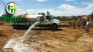 Prefeitura de Picuí revitaliza poço de 'Luiz de Joca' para abastecimento de água