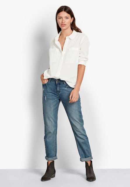 hush Fenella white sheer shirt