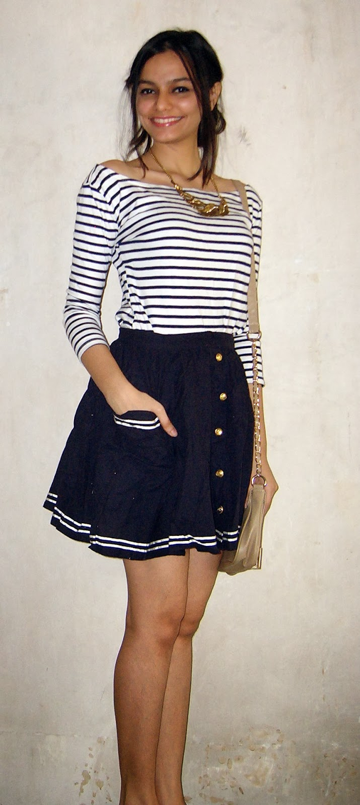 nautical, spring look, summer look in india, street shopping in bandra, fashion street shopping