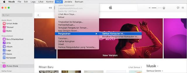 Cara mengotorisasi iTunes di Mac Dan di PC